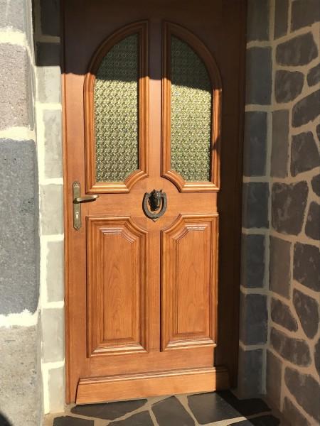 Porte d'entrée traditionnelle Bois Auvergne