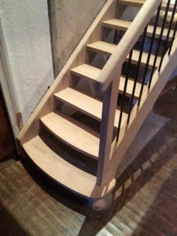 Escalier sur-mesure rambarde bois/métal 15