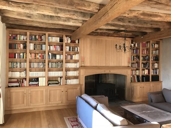 Bibliothèque sur-mesure Laroche menuiserie